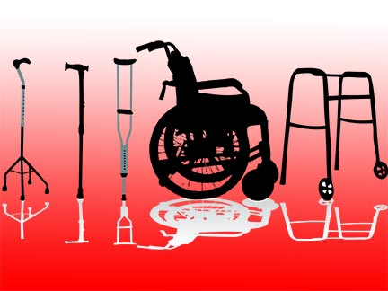 New Orleans injury victims might be forced to use wheelchairs, crutches, and mobility aids like these after being invovled in an accident. Contact a Louisiana personal injury in the Greater New Orleans area today to represent  you.